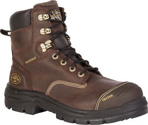 Oliver Boots: Men's Waterproof 55335 Brown Steel Toe 55 Series Work Boots