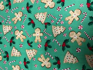 GINGERBREAD MAN GINGERBREAD COOKIES CANDY CANES HOLLY CHRISTMAS VALANCE