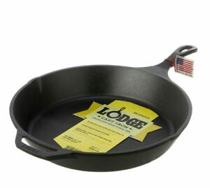 New Lodge Cast Iron Round Skillet 33CM Ready To Use High Quality Kitchenware