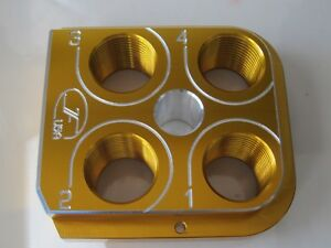 Dillon Precision RL550B Style Billet Tool head Aluminum CNC Made Toolhead Yellow
