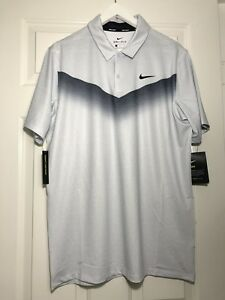 Nike Golf Mens polo shirt Dry fit standard fit grey size medium