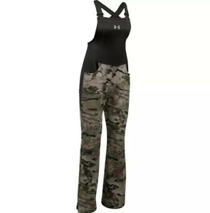 Under Armour Womens UA Stealth Forest Camo Hunting Bib Pants 1282692 Small S