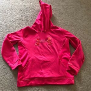 Under Armour Camo Hoodie Youth Size XL Girls Bright Pink  Pullover YXL