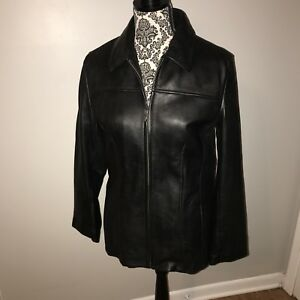 Wilson's Leather WOMEN'S JACKET THINSULATE ZIP OUT LINING BLACK MEDIUM