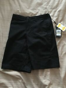 Under Armour Boy's Shorts Youth Large 14 Golf Match Play Black New