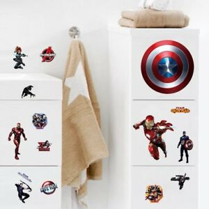The Avengers Room Wall Decal 3D Reusable Large Stickers CUT OUT Version $5.00