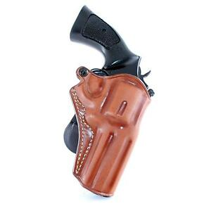 OWB Leather Paddle Holster Open Top Fits Colt Pyhton 357 Revover 4
