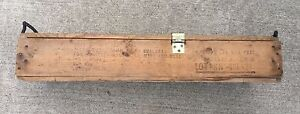 VINTAGE MILITARY WOODEN AMMO CRATE BOX AMMUNITION FOR CANNON HOWITZER EXPLOSIVES