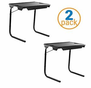 2 Pack My Comfy Bedside Table - Foldable Table Bedside Laptop Table