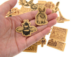 46 pieces kraft animals die-cuts Stickers Pack for junk bullet journal notebook