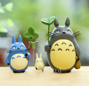 3pcsSet Anime My Neighbor Totoro Resin Figures Figurine Cute