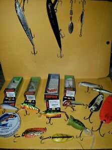 Vintage fishing luresspoons lotrapala Finland and other name brand ones lot