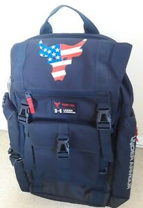 Under Armour UA Project Rock Freedom USA flag Military Backpack Regiment Navy gq
