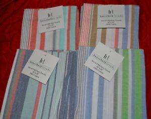Household Trends Striped Kitchen Towels - Various Color Patterns - Choose 3 or 6