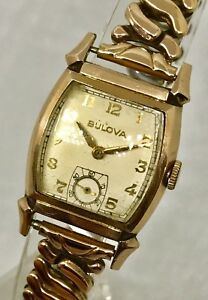 Vintage Bulova Rose Gold Filled Original Rose Gold Filled Bracelet Very Nice
