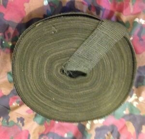 2quot; Wide Army Hunting Designer Camouflage Olive Green Burlap Roll 3 Yards.