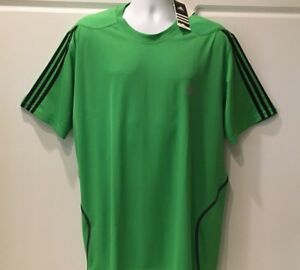 NEW Men's Adidas Quick Dry Athletic Fitness Short Sleeved Shirt XL NWT