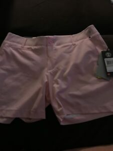"""Under Armour Golf Womens 5"""" Pink Shorts Size 8 $50.00"""
