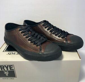 Frye Mens Size 9 Ryan Low Lace Fatigue Lace Up Casual Shoes Leather Designer
