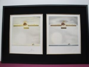Salvador DALI quot;CHRIST OF GALAquot; 2 Signed Lithographs Framed with RARE 3D Viewer  $2100.00