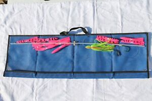 36-inch Flexible Spreader Bar w PINK Squids Hook Lure and Storage Bag