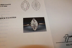 Marquise Diamond Engagement Ring EGL USA Certified Platinum