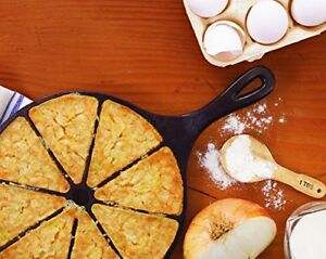 Cornbread Cast Iron Skillet Wedge Cookware Pan Muffin Scone Bake Cooking Lodge