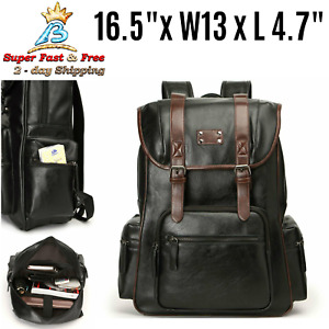 Womens Dark Brown Vintage Style Fashion Leather Backpack Purse School Travel Bag