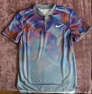 NWT Nike Court Dry Advantage Del Potro 854605-497 Slim Fit Tennis Polo Shirt M