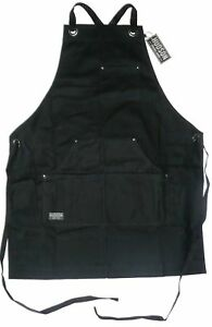 HUDSON DURABLE GOODS Black Waxed Canvas Work Apron 34