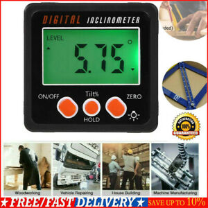 Portable Mini Digital Protractor Inclinometer Angle Finder Bevel Box with Base $12.46