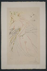 Original Salvador Dali etching with stencil and gilding published 1971 $2200.00