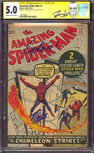 AMAZING SPIDER-MAN 1 CGC 5.0 SS STAN LEE QUOTED