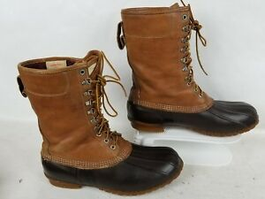 L.L BEAN MAINE HUNTING THINSULATE GORE TEX WATERPROOF LEATHER 10quot; BOOT SIZ 11