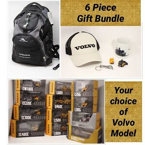 Volvo Model & Backpack SWAG Holiday Gift Bundle w Hat Key Chain Mug & More..