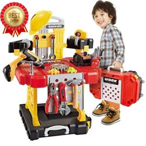 Kids Construction Toy Workbench for Toddlers 110 Pieces Xmas Gift Durable NEW US