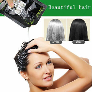Qinen White Hair into Black Fast black hair shampoo Only 5minutes 10PCS unisex
