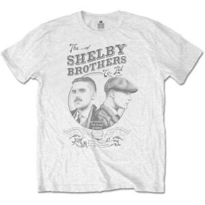 Peaky Blinders Shelby Brothers Circle Faces White T Shirt NEW GBP 11.19