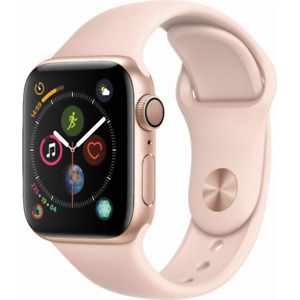 Apple Watch Series 4 GPS 40mm Gold Case with Pink Sand Sport Band MU682LLA