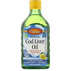 Wild Norwegian, Cod Liver Oil, Natural Lemon Flavor, 1,000 mg, 8.4 fl oz 250