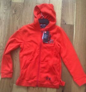 UNDER ARMOUR Boys Rival Hoodie Orange YM YS YL YX AGES 7 8, 8 10, 10 12, 12 14 $33.47
