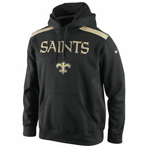 Nike New Orleans Saints Shield Nailhead Sideline Therma-FIT Pullover Hoodie