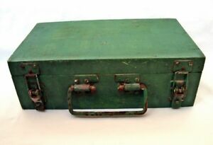 Vintage wooden military box Cannon ammunition crate Army of the Warsaw Pact