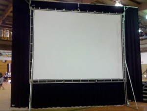 Da-Lite TRUSS 9 x 12 Fast Fold Projector screen w Rear and Front +Dress Kit