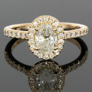 Martin Flyer Rose Gold 1.04ct Oval Diamond Halo Engagement Ring MSRP: $6250