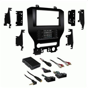 Metra 99-5840CH 2015-2018 Ford Mustang Single Double DIN Radio Stereo Dash Kit