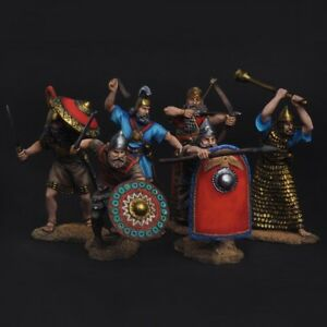 Tin soldiers 54mm Set of Assyrian warriors 2-1 thousand BC