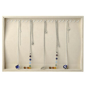 20 Hooks Necklaces Chains Penadnt Jewelry Display Storage Box Case Tray Holder
