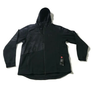 Under Armour Mens Size 2XL Cold Gear Hooded Zipper Jacket Loose Fitting $124