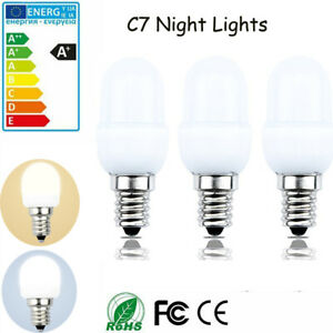 3 Pack LED C7 Night Light Bulb 120V E12 Candelabra Base 0.5W for Night Bulbs